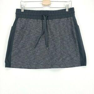 Athleta Excursion Hybrid Skort Skirt Black Heather Size M 405667