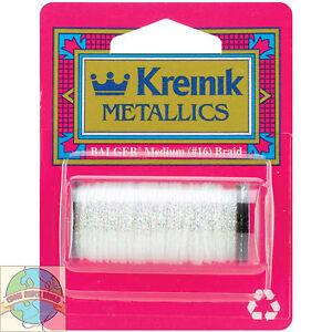 Kreinik Metallic Thread M #16 Braid - 11Yd Spool of Crystalline / Easter #9032
