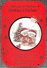 FRATELLO e partner di qualità cartolina di Natale orsi e Tree Design