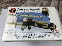 Sopwith 2F1 Camel 1918 01075 Special Edition Airfix Model Kit 1/72 Series 1 SEAL