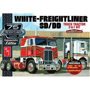AMT White Freightliner 2-in-1 SD-DD Cabover Tractor (75th Anniversary) 1:25 Scal