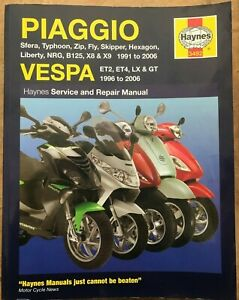 Piaggio (Vespa) Scooters 1991 - 2006 Service & Repair Manuals
