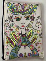 Sara Molano Artist Muralist Hand painted Pouch Cosmetic Bag Handmade Wynwood