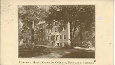 Earldom Hall College Richmond Indiana IN nice postcard postally used in 1919?