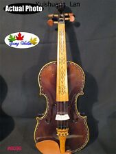 """Strad style SONG Maestro inlay art Acoustic/electric"""" violin 4/4"""