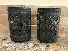 Set of 2 TWO  SMALL Parisian Luminaries Southern Living Candle Holders 41053