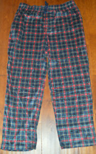Men's Foundry Navy & Red Plaid Microfleece Lounge Sleep Pants 2XLT, 3XLT