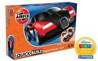 AIRFIX® QUICK-BUILD BUGATTI VEYRON BLACK/RED QUICKBUILD MODEL CAR KIT J6020