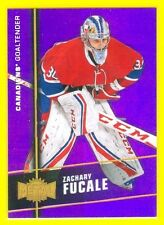 2015-16 SHOWCASE (HKY) Zachary Fucale PRECIOUS METAL GEMS PURPLE RC #MU18 #d 4/5