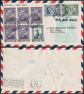 Portuguese Guinea 1941-FDC Airmail Cover to Puerto Rico from Bolama.(VG) MV-7701