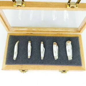 Case XX Pocket Knives Mother of Pearl Collector Set 5 pcs with Case