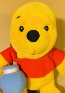"Vintage Winnie Pooh Disney Plush Honey Pot 1997 Mattel 12"" Stuffed Animal Toy"