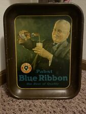 Vintage 1930's Era  Antique Pabst Blue Ribbon Beer Tray
