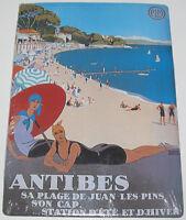 Plaque Affiche en Métal Carte Postale 15x20 cm Antibes France NEUF