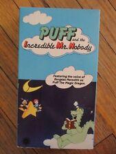 PUFF MAGIC DRAGON VHS Incredible Mr. Nobody Burgess Meredith vtg 1980s Cartoon