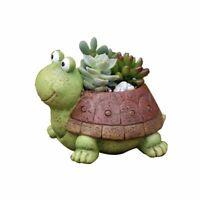 Tortoise Silicone Flowerpot Mold Turtle Cement Planter Mould Concrete DIY Pot
