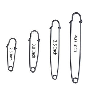 LARGE DURABLE STRONG METAL SAFETY KILT PIN ANTIQUE SCARF BROOCH KNITTING STITCH