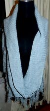 Infinity Scarf Gray Chunky Knit ASOS Tassels Misses One Size New