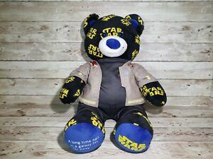 """Build A Bear Star Wars 18"""" Plush Teddy Stuffed Animal w/outfit Blue & Black"""