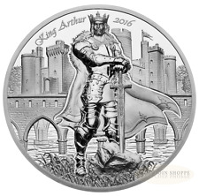 KING ARTHUR - LEGENDS OF CAMELOT - 2016 2 oz Ultra High Relief Proof Silver Coin