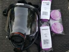 North Honeywell 7600 full face dual filter respirator Small with 5-2 pak filters