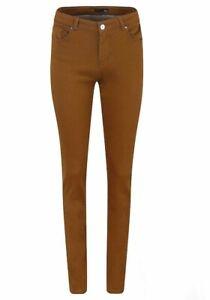 New Womens Ladies Khaki Super Fit Slim Jeans Pants Trousers Exchain High Street