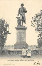 CPA SUISSE MONUMENT DANIEL JEANRICHARD AI LOCLE (dos non divisé) CLICHE RARE