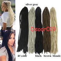 20'' Faux Locs Synthetic Heat Resistant Twist Braids Crochet Hair Extension Locs