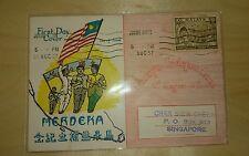 Malaysia 1957 Merdeka Malaya Tunku Abdul Rahman stamp FDC ~ Flag & all races