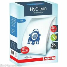 4 x Miele S8310 GN 3D Dust Bag Genuine Hyclean Bags Original Power Plus Filter