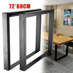 "2x Industry Metal Steel Table Legs Bench Desk Furniture Leg Black Coated28"""