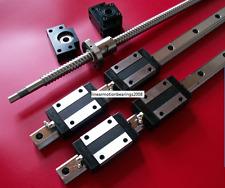 16mm balls crew 1605-500mm+BK/BF12 end bearing+20mm Linear Guideway 2 Rail CNC