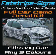 FULL CAR CAMO KIT GRAPHICS STICKERS DECALS CAMOUFLAGE BONNET ROOF VINYL WRAP ST