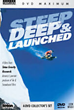 Steep, Deep & Launched (DVD, 2007) COMPLETE Set RARE EXTREME SPORTS - Free S&H