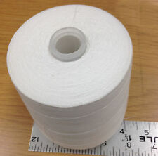 New Lot of 2 White Spool Cones of 100% Cotton Soft Thread 12000 yards 35/2