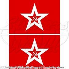 UNION SOVIETIQUE Marine Jack Drapeau USSR RUSSIE Sticker Autocollant 75mm x2
