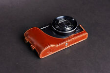 Genuine real Leather Half Camera Case bag for Samsung GALAXY Camera EK-GC110/100