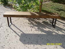 industrial wood and steel bench 6'