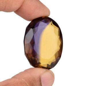 Briliant Ametrine 40.95 Ct. Dual Color Oval Cut Faceted Loose Gemstone AA-673