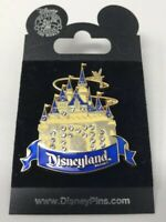 Disneyland DLR Sleeping Beauty Castle PIN Golden with Jewels 2007