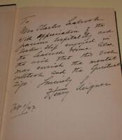 Mysticism in Action Henry Steigner Signed Book 1st Edition Occult Supernatural !
