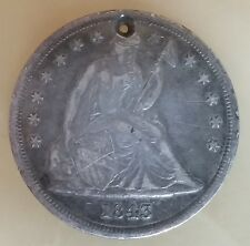 Antique 1843 Seated Liberty US SILVER DOLLAR XF Devices 3,500 ESTIMATED SURVIVAL