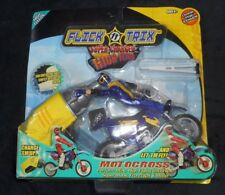 VINTAGE FLICK TRIX SUPER CHARGED HIGH FLYERS 2001 SPIN MASTER MOTOCROSS TOY NOS