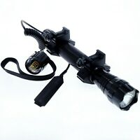 CREE LED RECHARGEABLE HUNTING LIGHT torch lamp Weaver/Picatinny Rail Rifle Mount