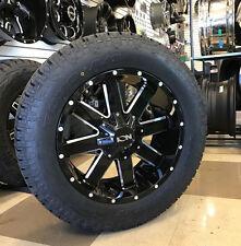"20"" Ion 141 Gloss Black Wheels 34"" Toyo AT2 Tires Package 8x6.5 RAM Chevy 8 lug"
