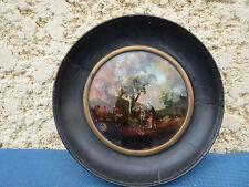 Miniature fixé sous verre paysage sous bois époque Napoléon 3
