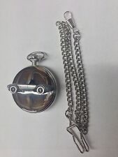 Shelby Cobra ref239 Pewter Effect polished silver case pocket watch
