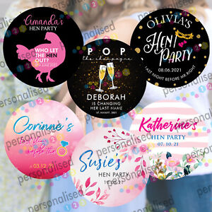 Personalised Hen Do Party Night Stickers Wedding Favours POP Party Bag Labels