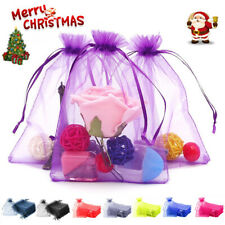 Drawstring Organza Christmas Gift Package Wedding Favor Pouches Candy Jewelry
