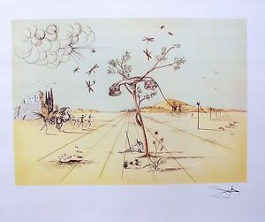 Salvador Dali DISEMBODIED TELEPHONE Signed Limited Edition Art Lithograph